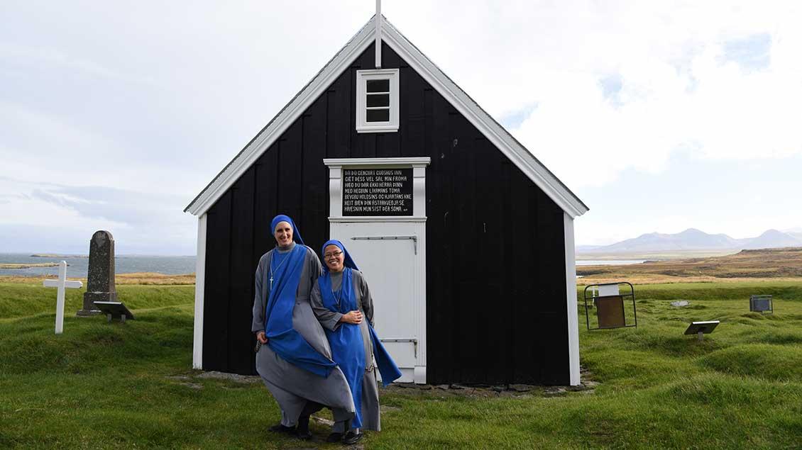 Zwei Schwestern in Island