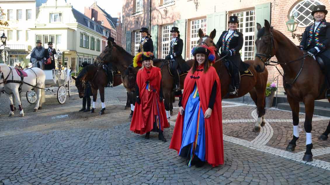Reitergruppe Columbia bei der Wallfahrt der Karnevalisten nach Kevelaer 2019.