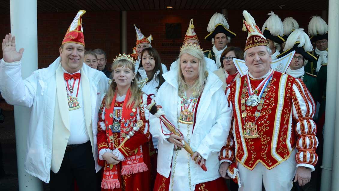 Rotweiss Borth bei der Wallfahrt der Karnevalisten nach Kevelaer 2019.