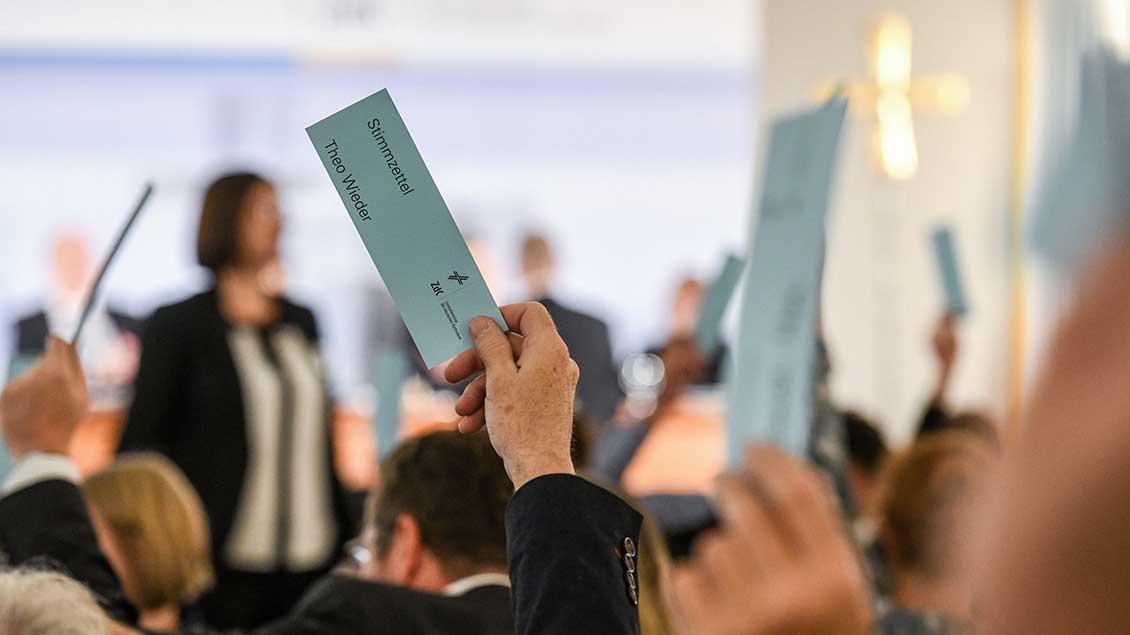 Abstimmung bei der Vollversammlung des ZdK