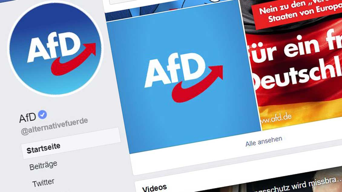 Facebookseite der AfD Foto: Screenshot