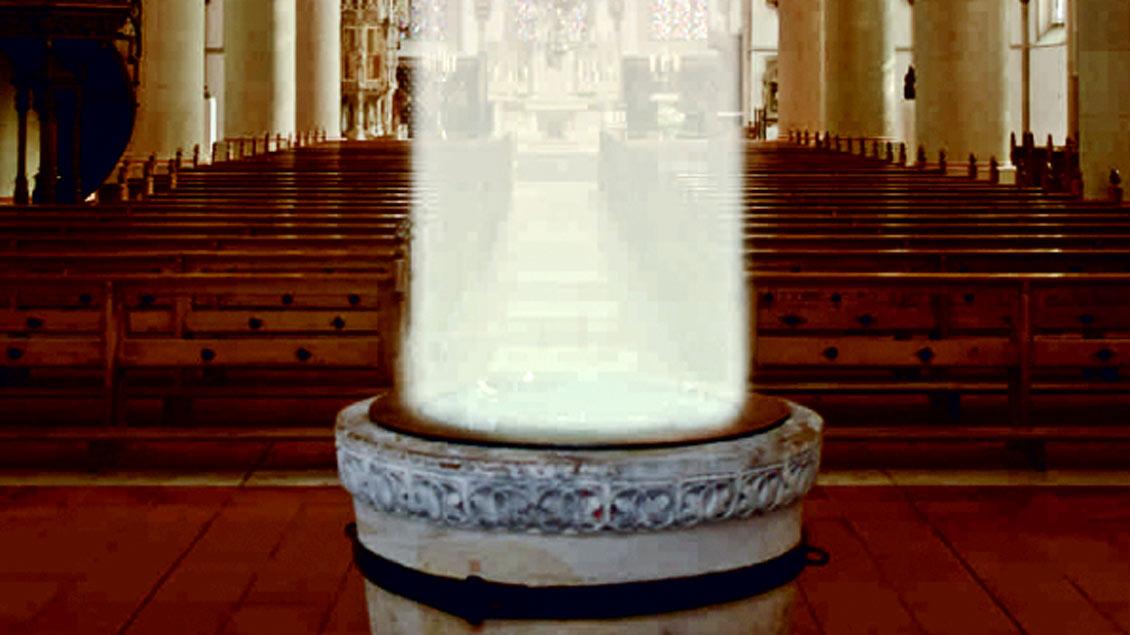Taufbrunnen in St. Felizitas. Foto: pd