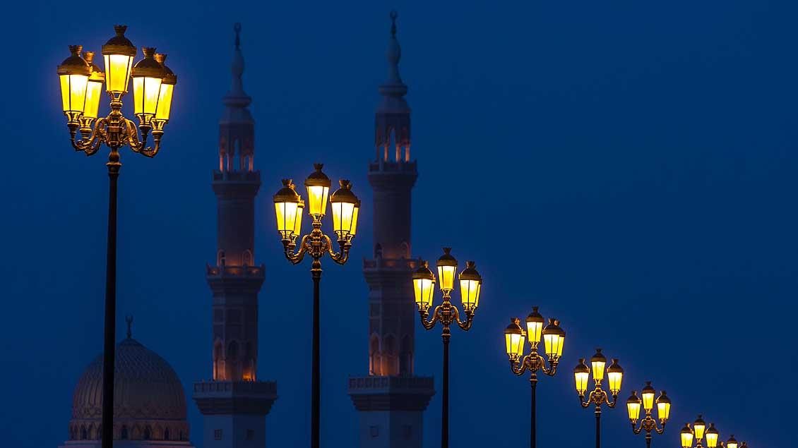 Blick auf zwei Minarette