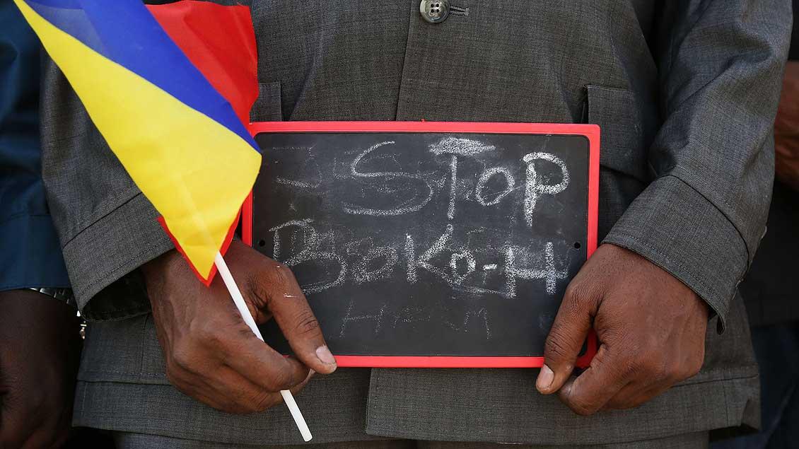 Demonstrant gegen Boko Haram