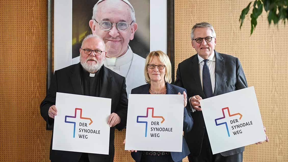 Kardinal Marx, Karin Kortmann und Thomas Sternberg