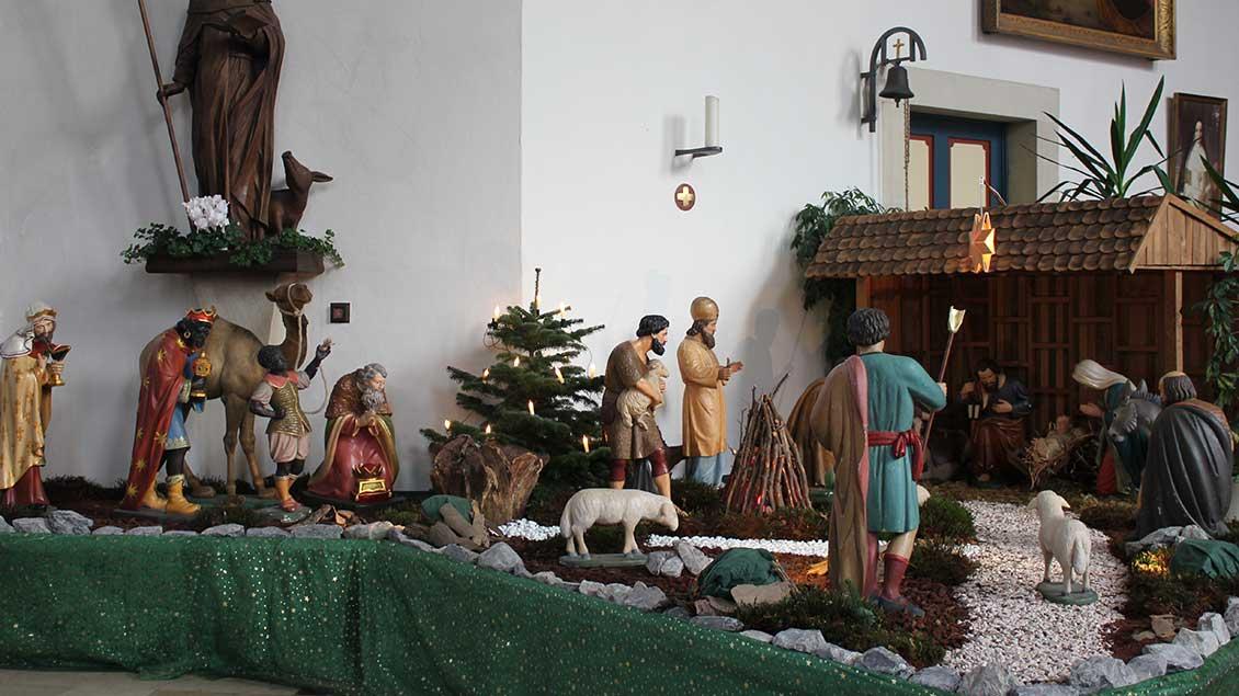 Weihnachtskrippe in St. Nikolaus Darfeld. | Foto: Bernhard Scheipers