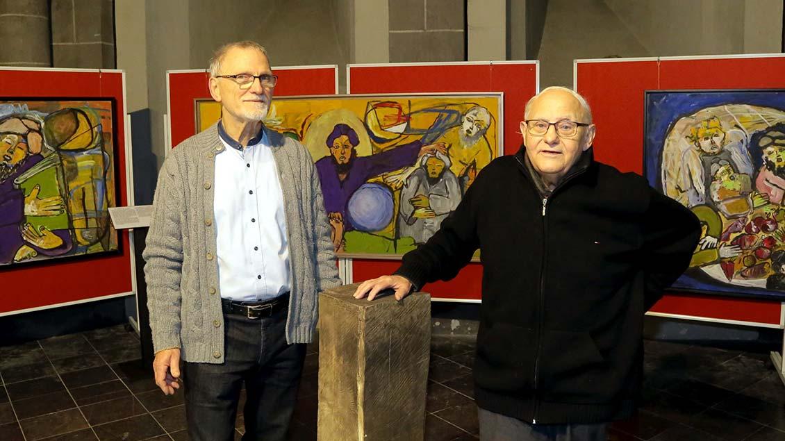 Die Initiatoren der Ausstellung: Thomas Garske (links) und Josef Hochstaffl. | Foto: Armin Fischer
