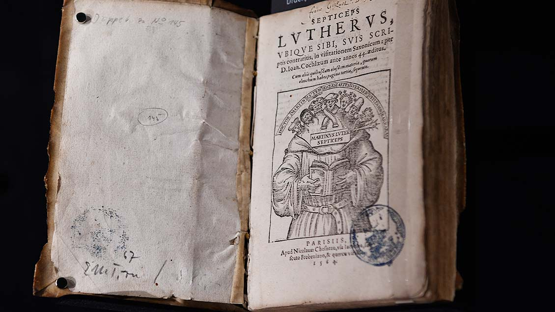 """""""Septicus Lutherus"""" von 1564.   Foto: Michael Bönte"""