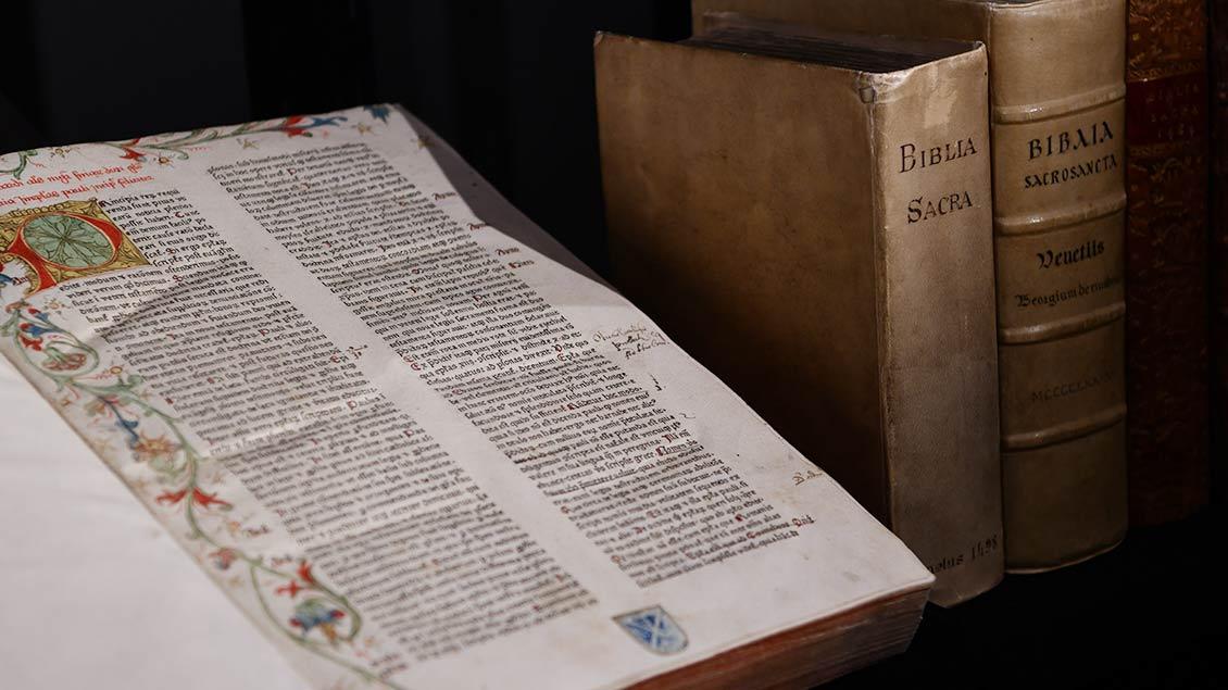 """Glossa in epistolas Pauli"""" aus dem Jahr 1473.   Foto: Michael Bönte"""