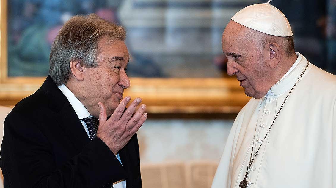 Antonio Guterres und der Papst