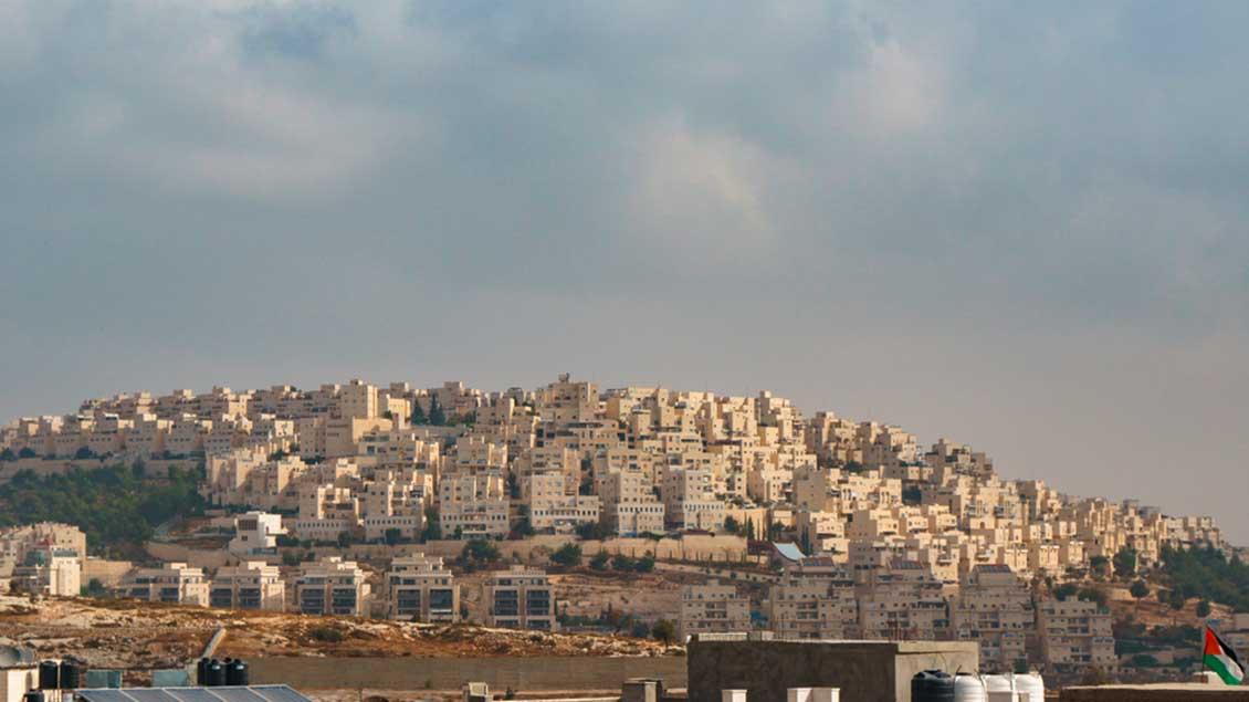 Israelische Siedlung bei Bethlehem