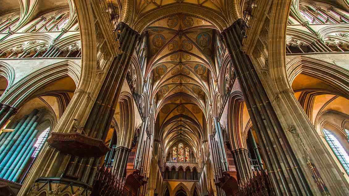 Gewölbe der Kathedrale von Salibury Foto: pixabay