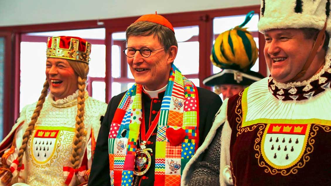 Kardinal Woelki mit Jungfrau und Bauer