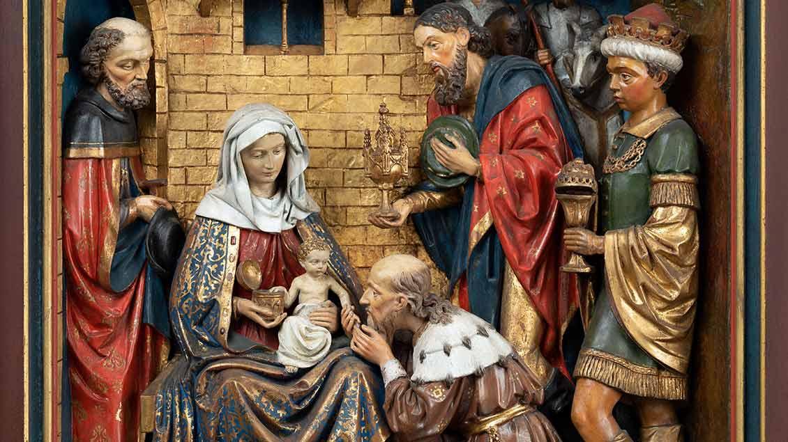 Um 1892 entstandenes Weihnachtsrelief von Jakob Holtmann.