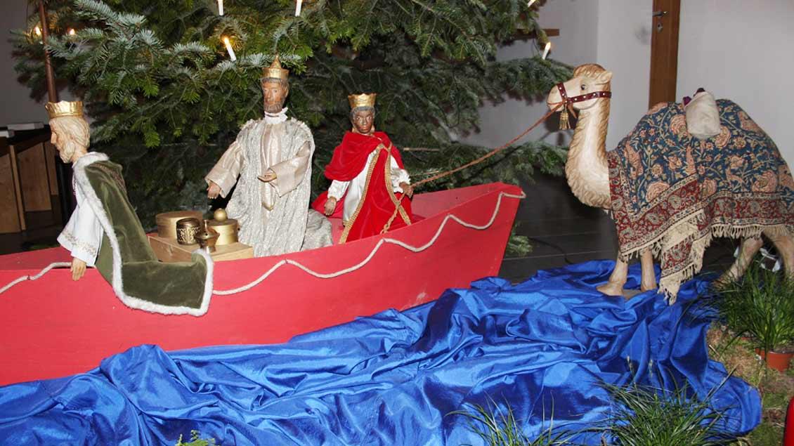 Die Heiligen Drei Könige im Boot