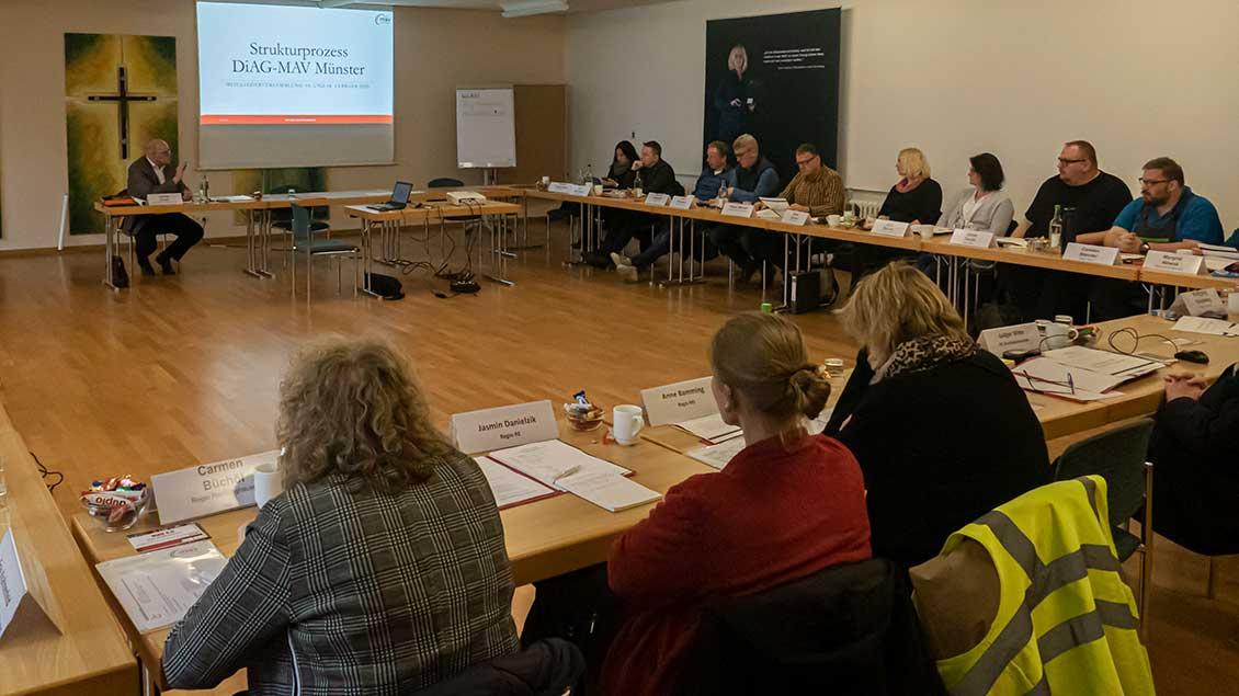 Diskussion in der DiAG-MAV-Mitgliederversammlung