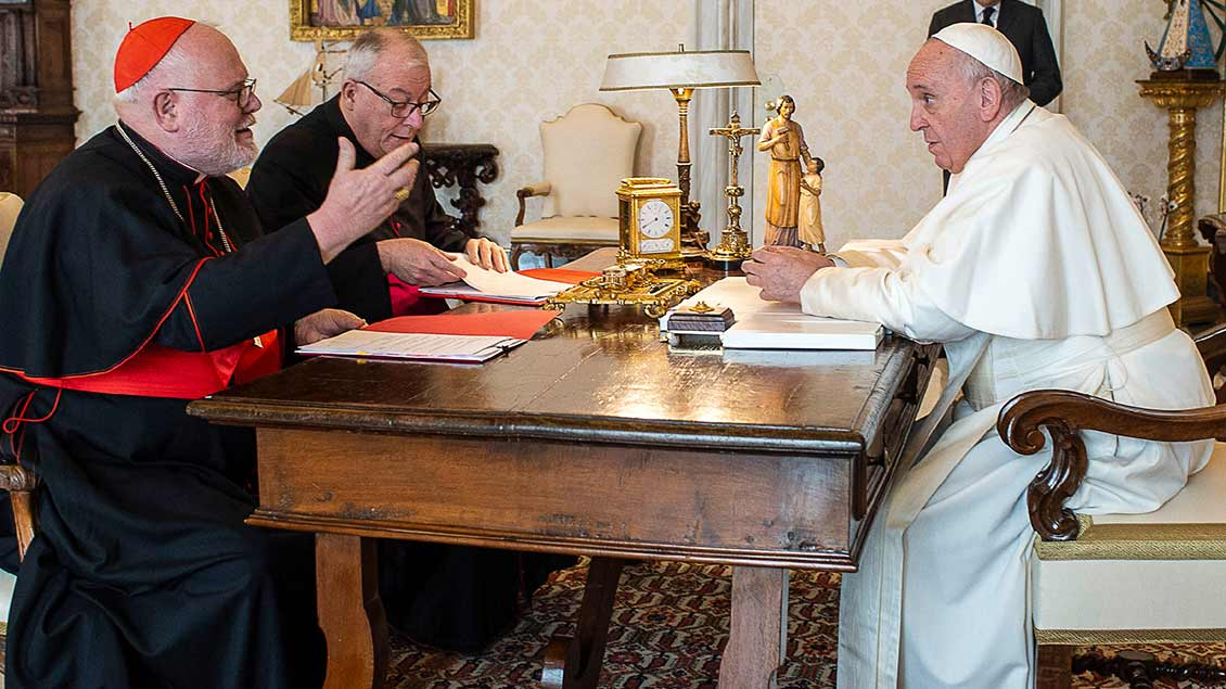 Kardinal Marx und Papst Franziskus