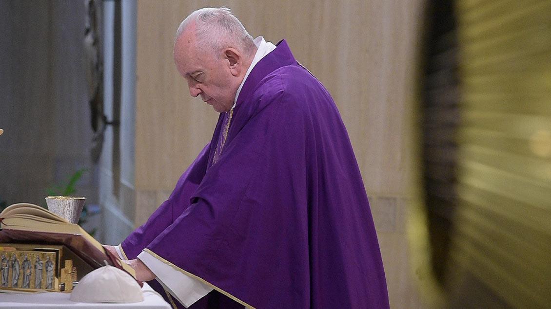 Papst Franziskus am 27. Februar