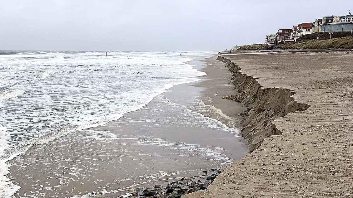 Weggespülter Strand von Wangerooge