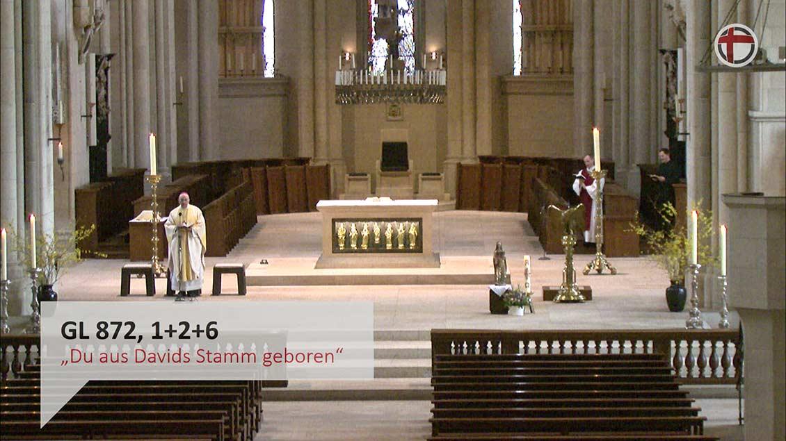 Diese Ansicht haben Nutzerinnen und Nutzer, die den Gottesdienst über das Internet mitfeiern. | Foto: Screenshot
