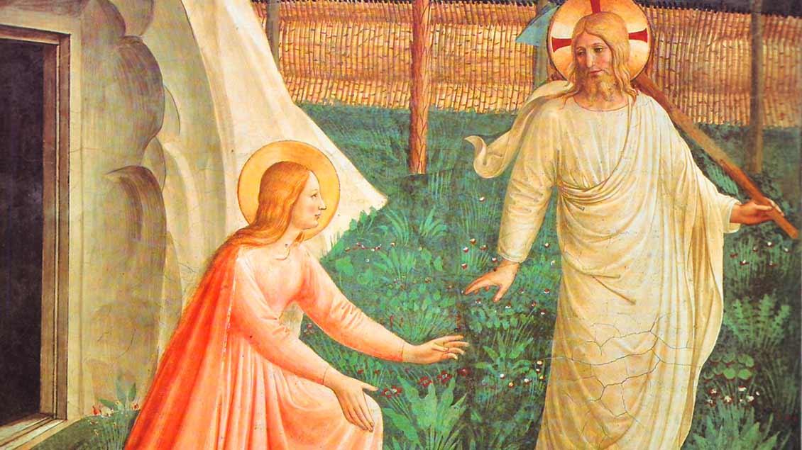 Maria Magdalena und der Auferstandene: Gemälde von Fra Angelico