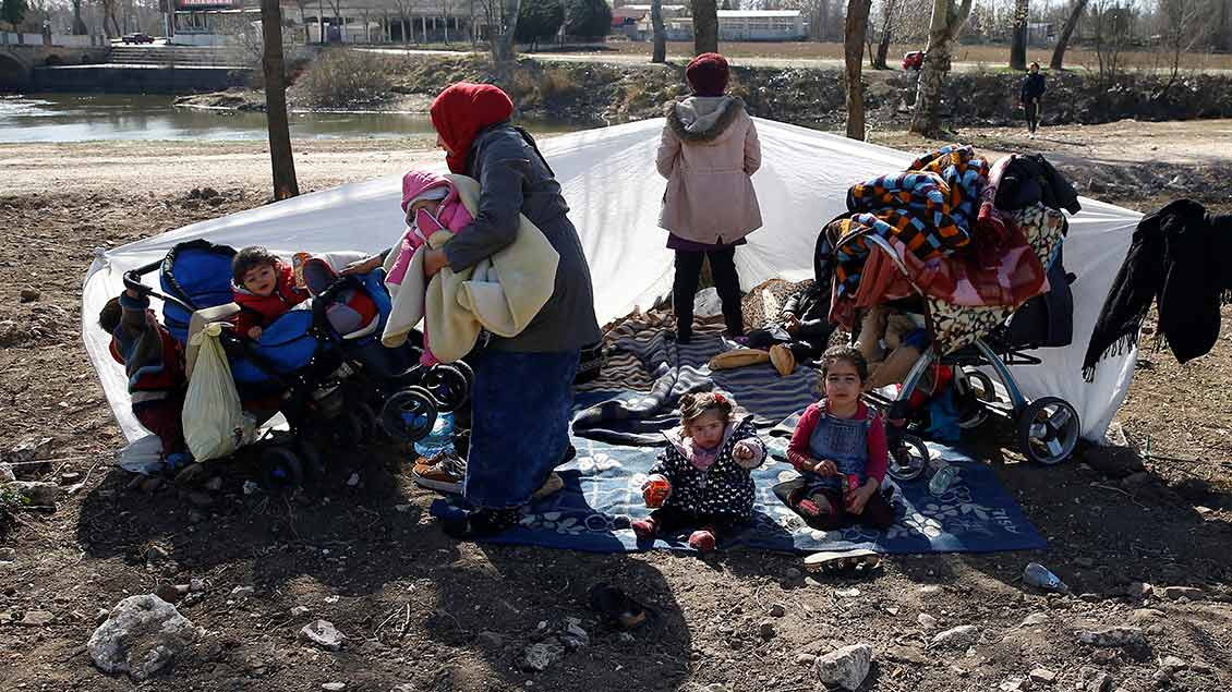 Flüchtlinge an der Grenze Foto: Huseyin Aldemir (Reuters)