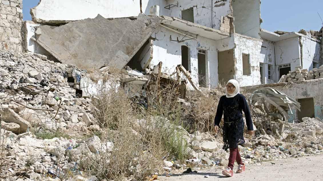 Viele Häuser sind in Syrien zerstört