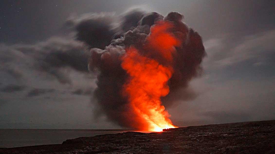 Vulkan auf Hawaii.
