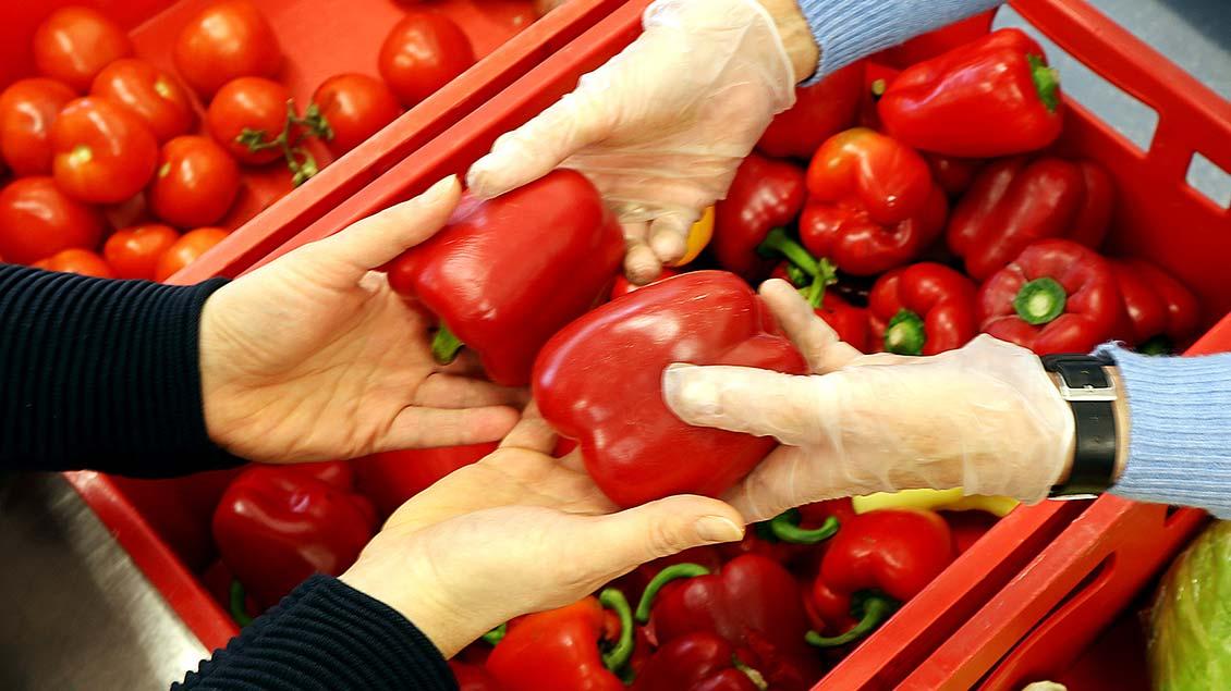 Gemüse in der Löninger Tafel