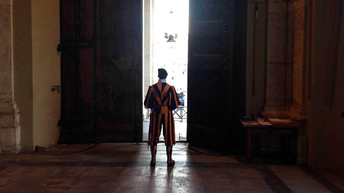Schweizer Gardist im Vatikan