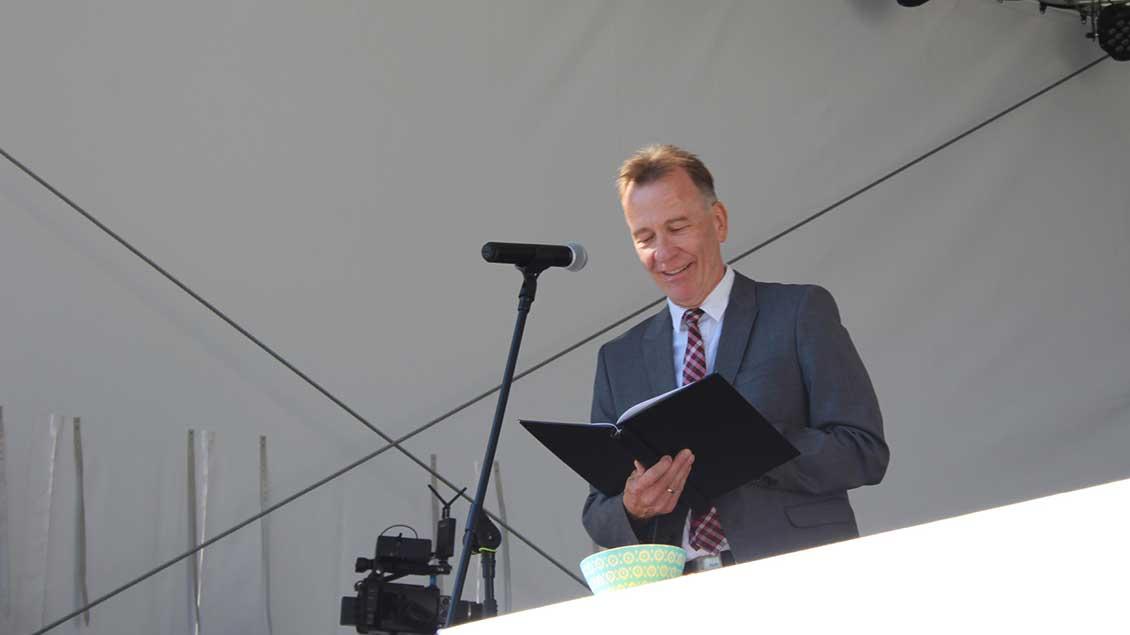 Schulseelsorger Norbert Terliesner hielt die Predigt. | Foto: Johannes Bernard