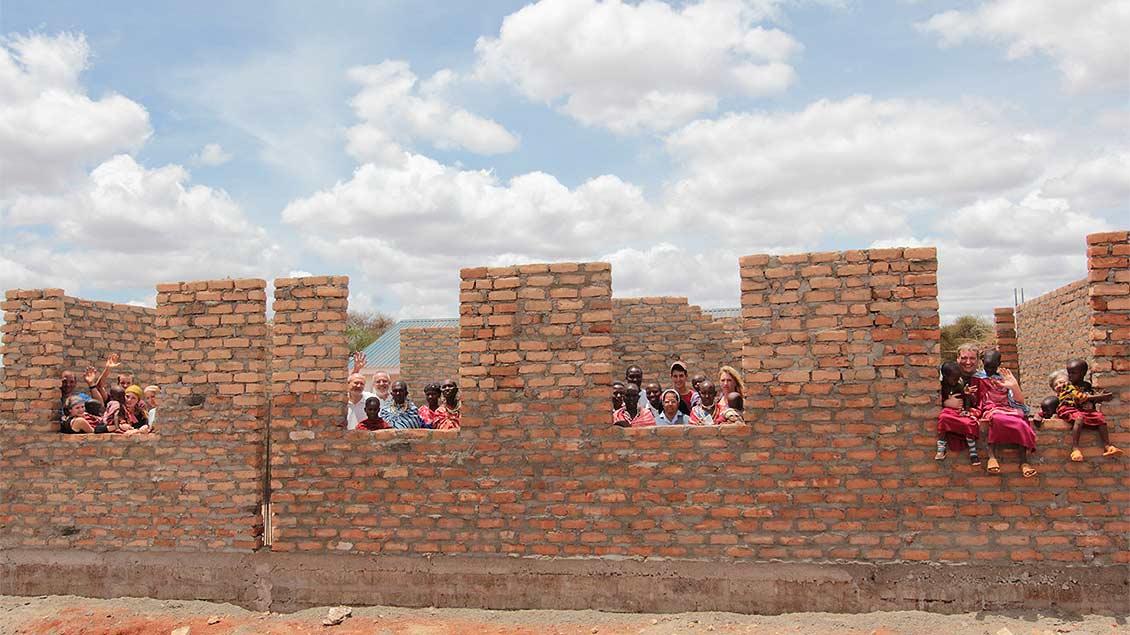 Der Schulkomplex wird nach und nach vergrößert, um mehr Kindern und Lehrern Raum zu geben. | Foto: Norbert Ortmanns
