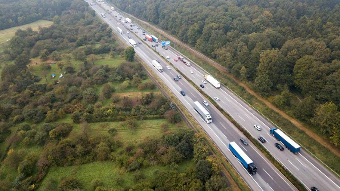 Luftbild Autobahn