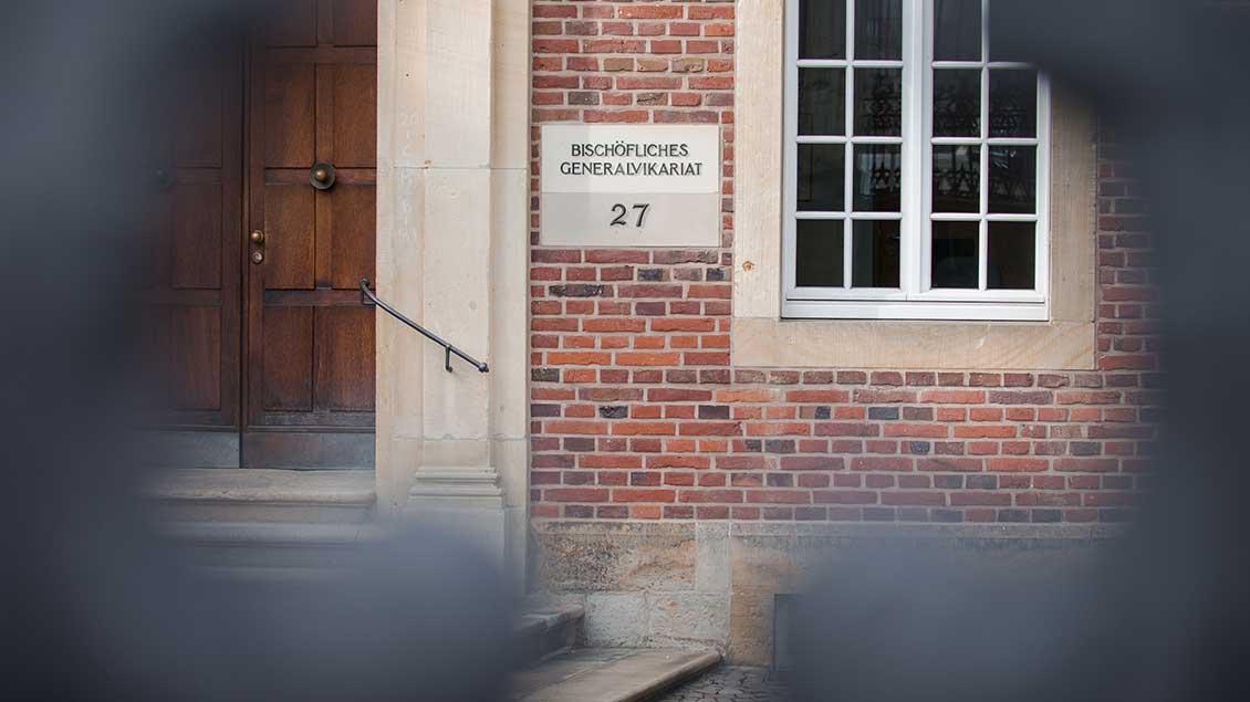 Eingang zum Generalvikariat in Münster