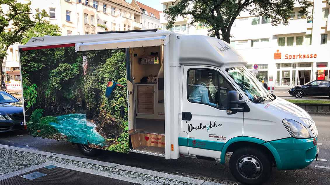 Das Duschmobil in Berlin