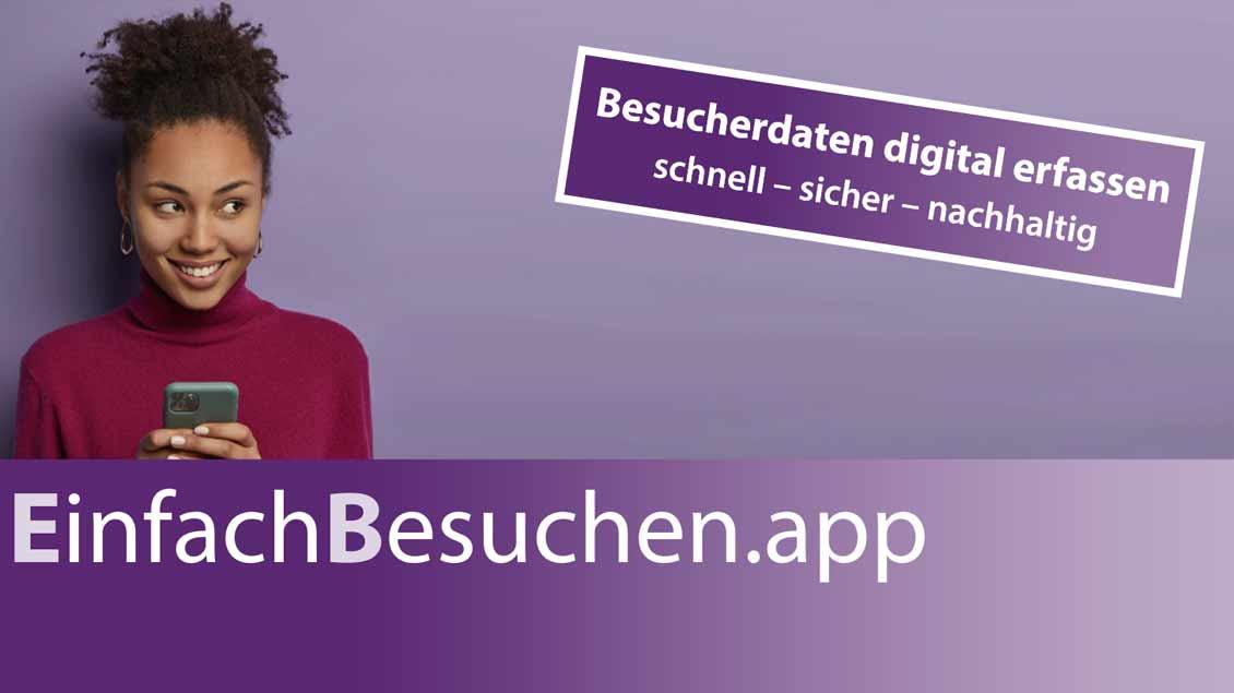 """Flyer zur App """"EinfachBesuchen"""" Foto: pd"""
