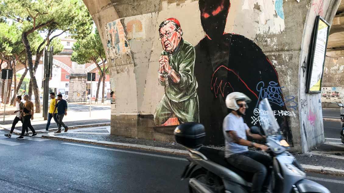 Graffito des australischen Künstlers Scott Marsh