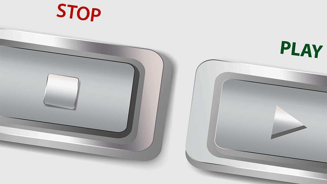 Stop-Knopf