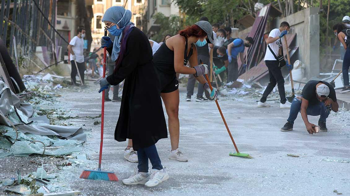 Aufräumen in Beirut