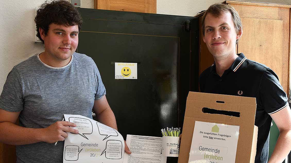 Matthias Weiß (links) und Fabian Christoph